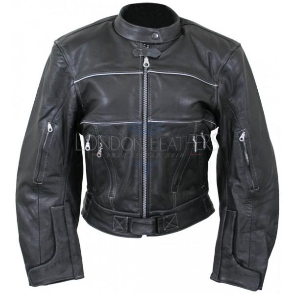 Ladies Motocross Motorcycle Leather Jacket